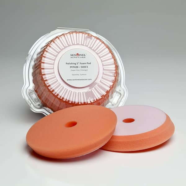 5inch S. Fine Foam Pad Orange min